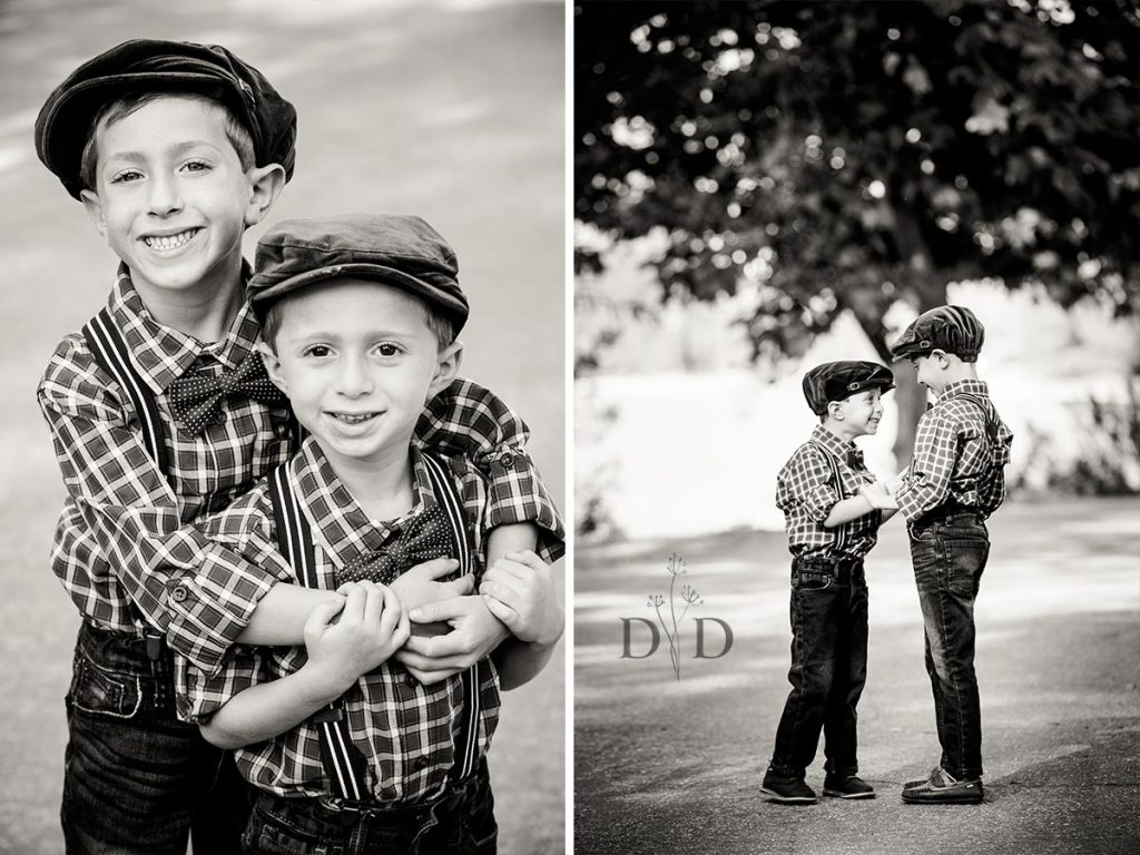 B&W Photo of Brothers