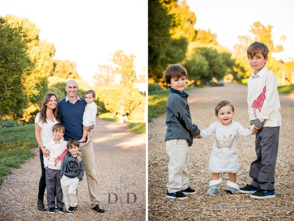 Family Photo with Three Kids