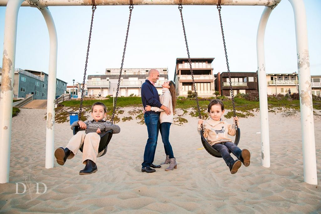 Swings at the Beach Family Photo