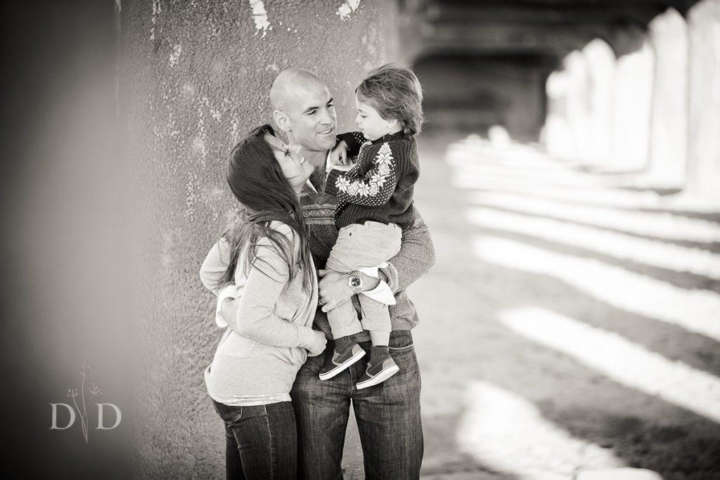 Manhattan Beach Family Photo Under Pier
