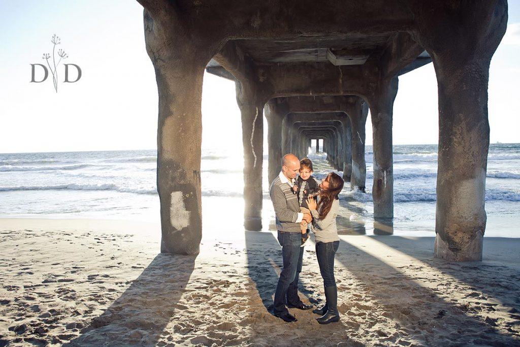 Manhattan Beach Family Photography Under Pier