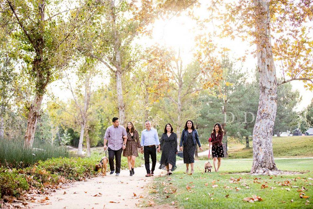 Irvine Family Photos Walking in Park