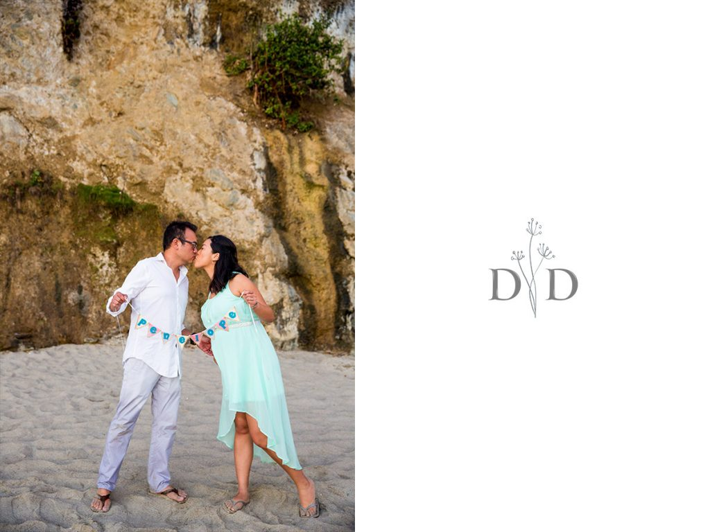 Maternity Photography with Letters