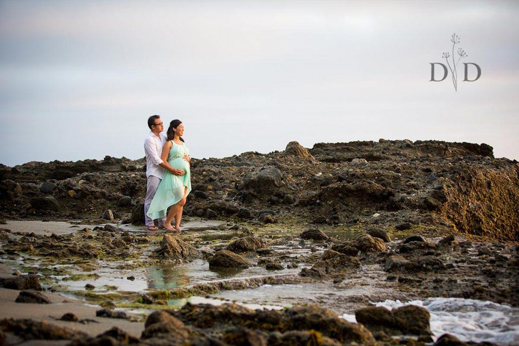 Laguna Beach Maternity Photos Tide Pools