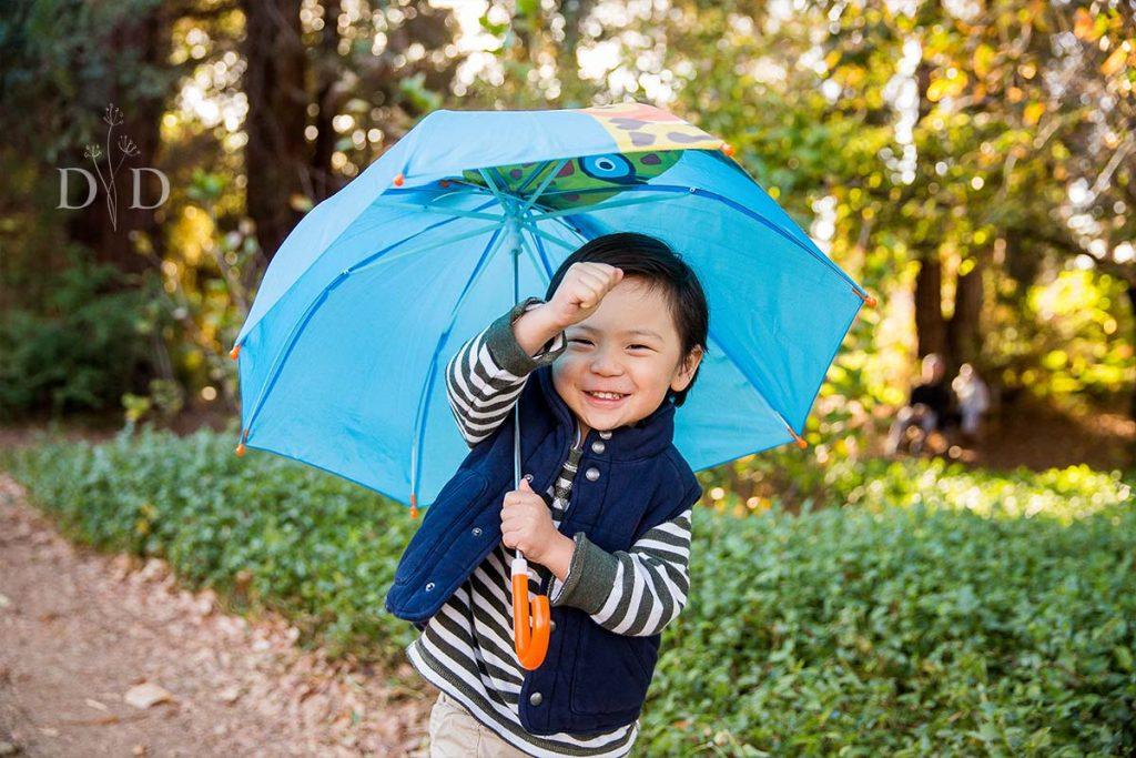 Portraits of Son with Umbrella