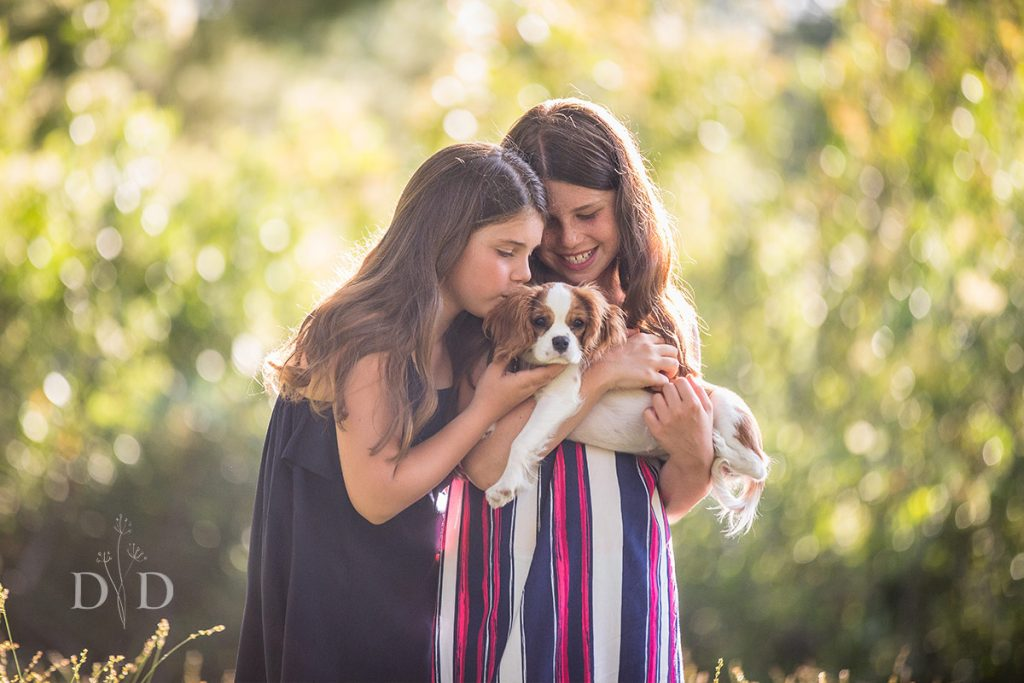 Family Photography with Cute Puppy Dog