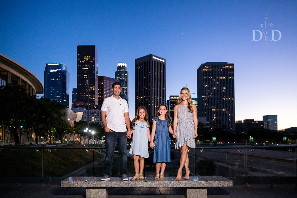 Downtown Los Angeles Skyline Family Photo