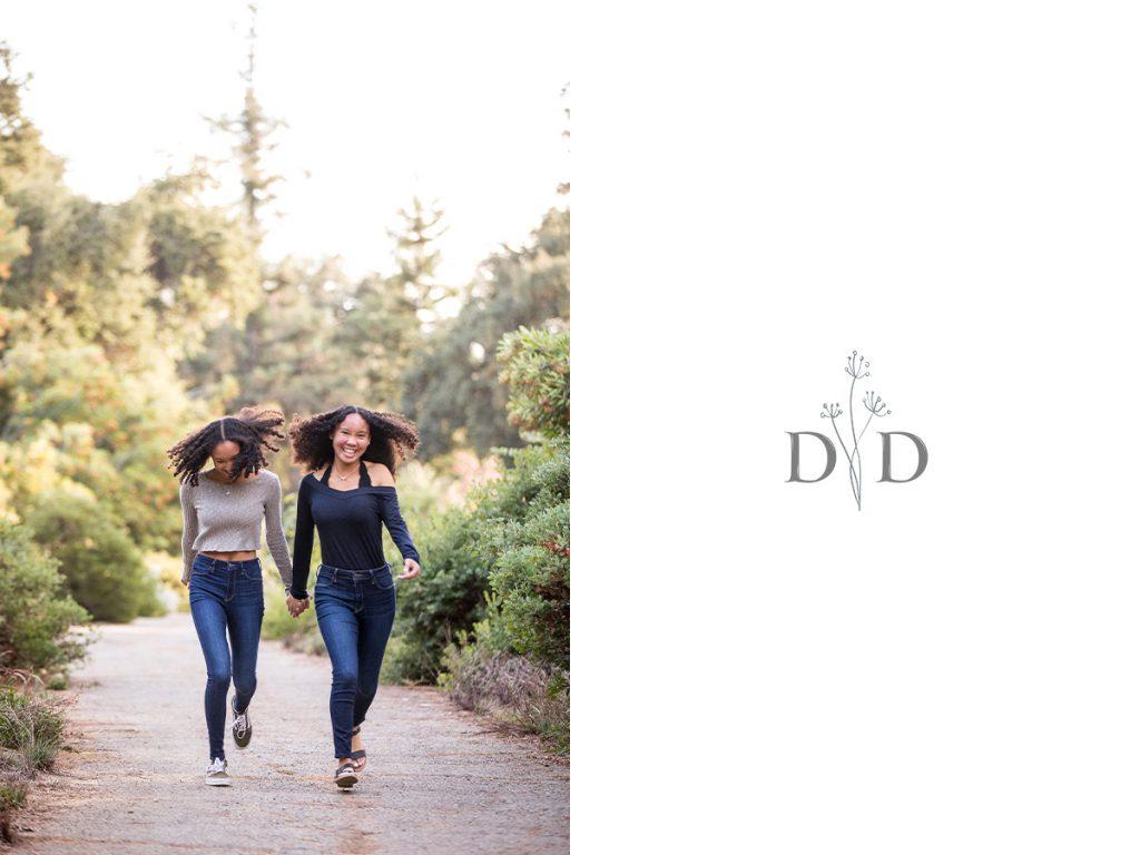Sisters Walking Family Photo