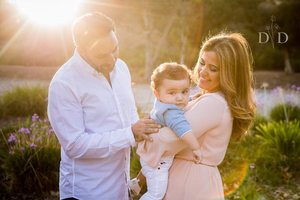 San Dimas Family Photo with Infant