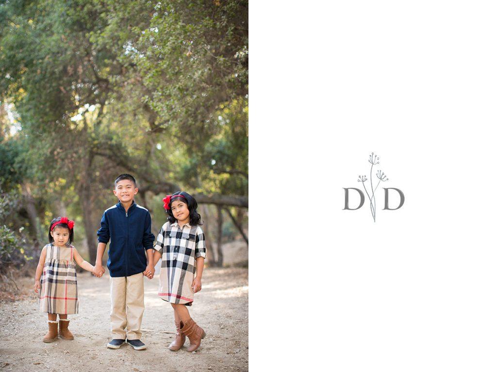 Three Children Family Photos