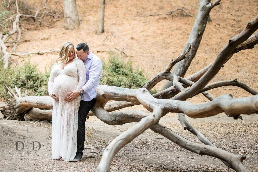 Maternity Photography with a Log