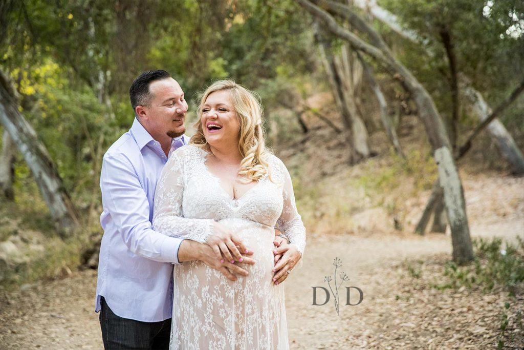 Walnut Creek Park Maternity Photo Laughing