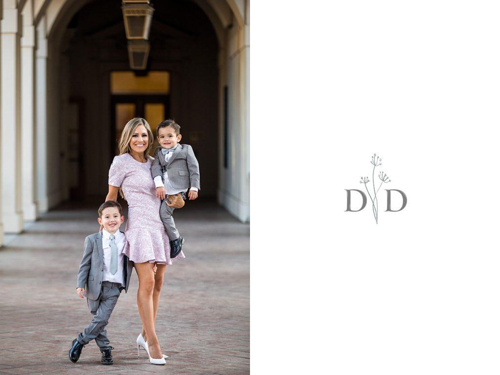Pasadena City Hall Family Photos in Hallway