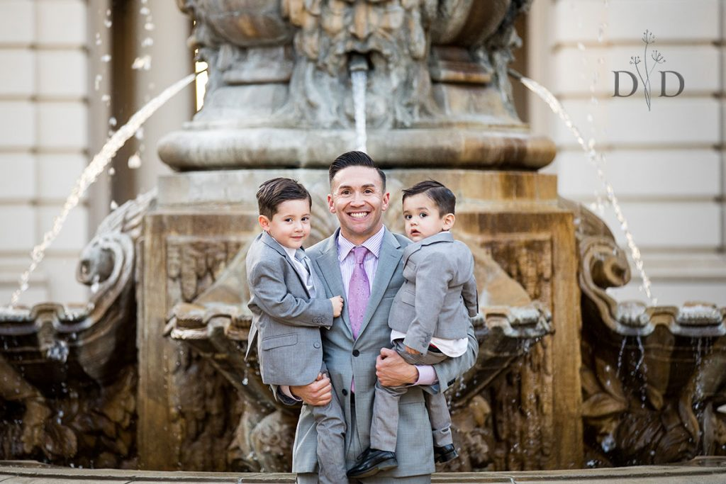 Pasadena City Hall Fountain Family Photos