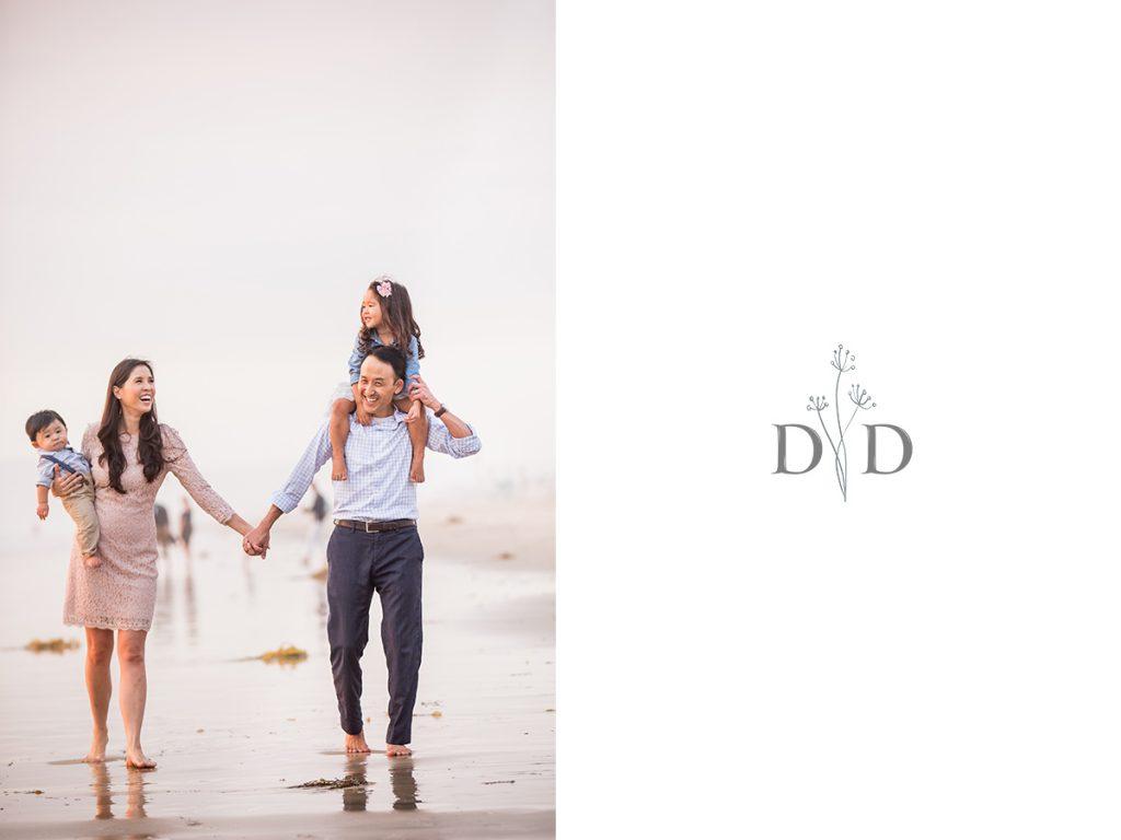 Manhattan Beach Family Photo Walking