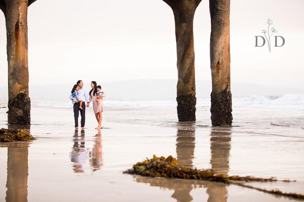 Manhattan Beach Pier Family Photo Walking