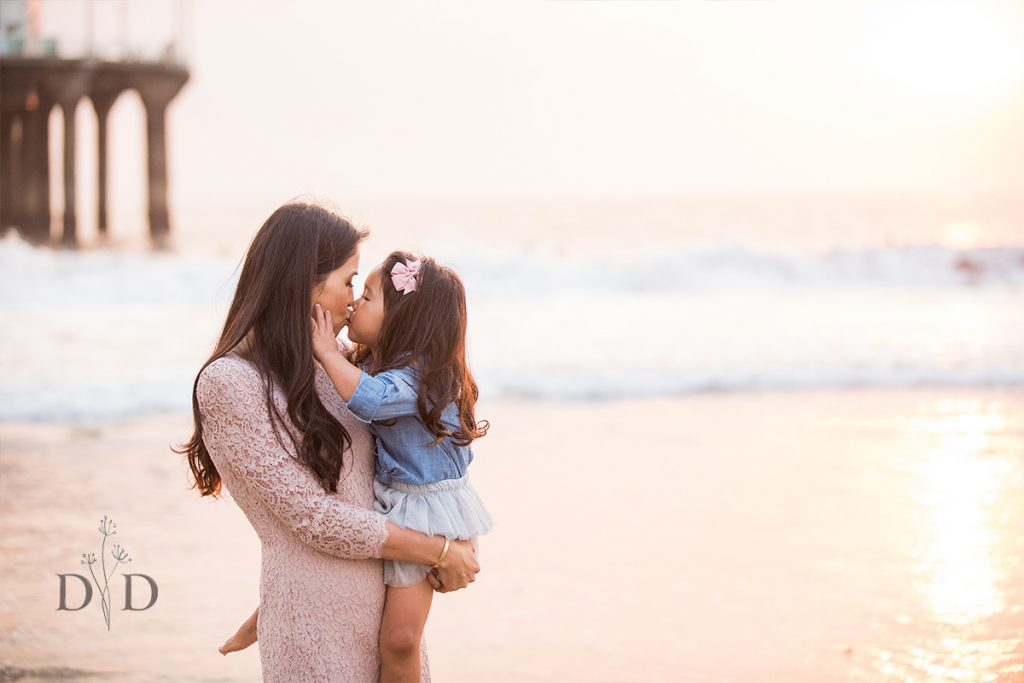 Mom with Daughter at the Beach