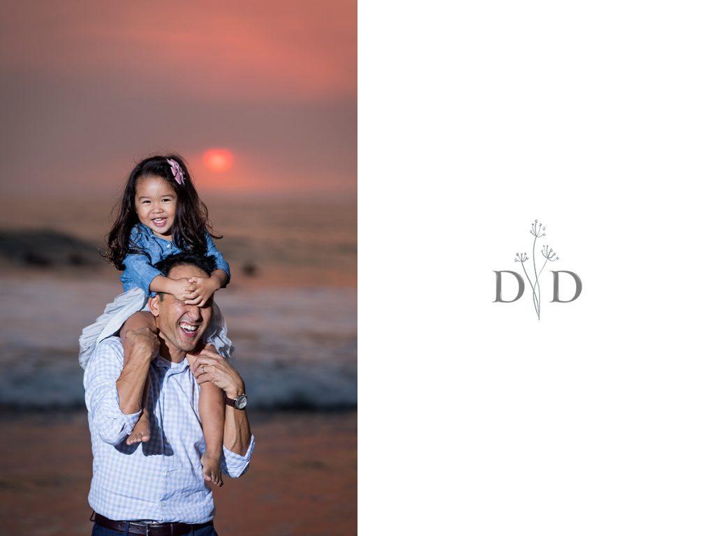Family Photo Manhattan Beach Sunset
