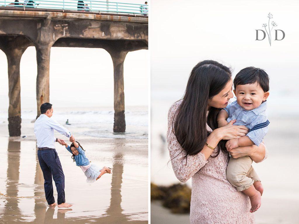 Family Photo Manhattan Beach Pier