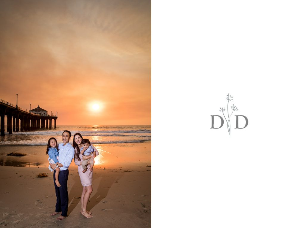 Sunset Family Photo Manhattan Beach