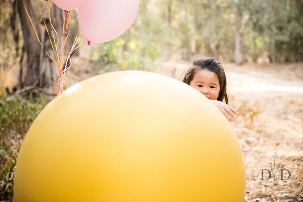 Huge Yellow Balloon Family Photos