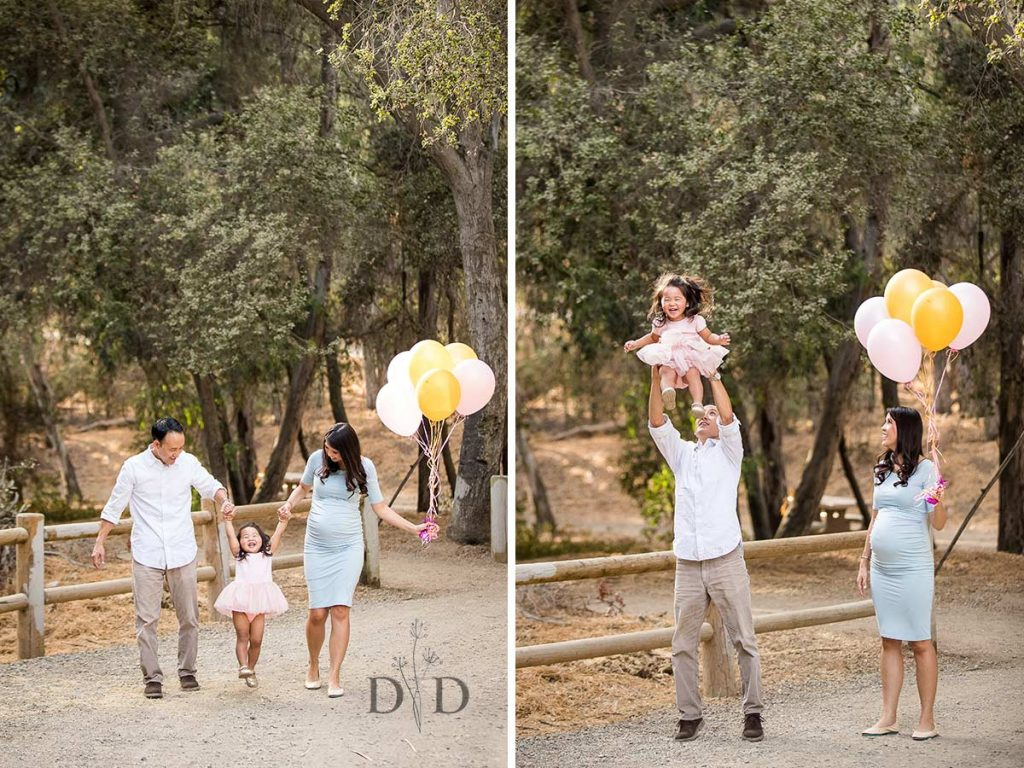Walnut Creek Park Family Photography with Balloons