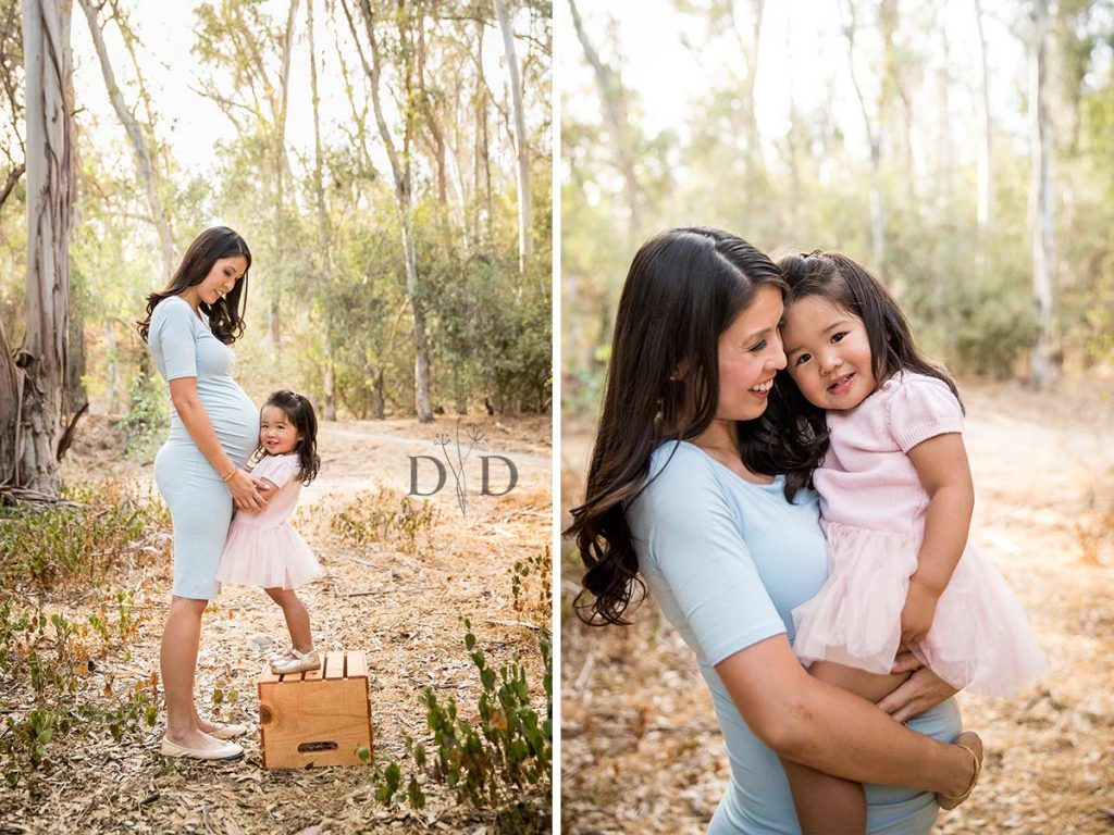 Pregnant Mother and Daughter Family Photos