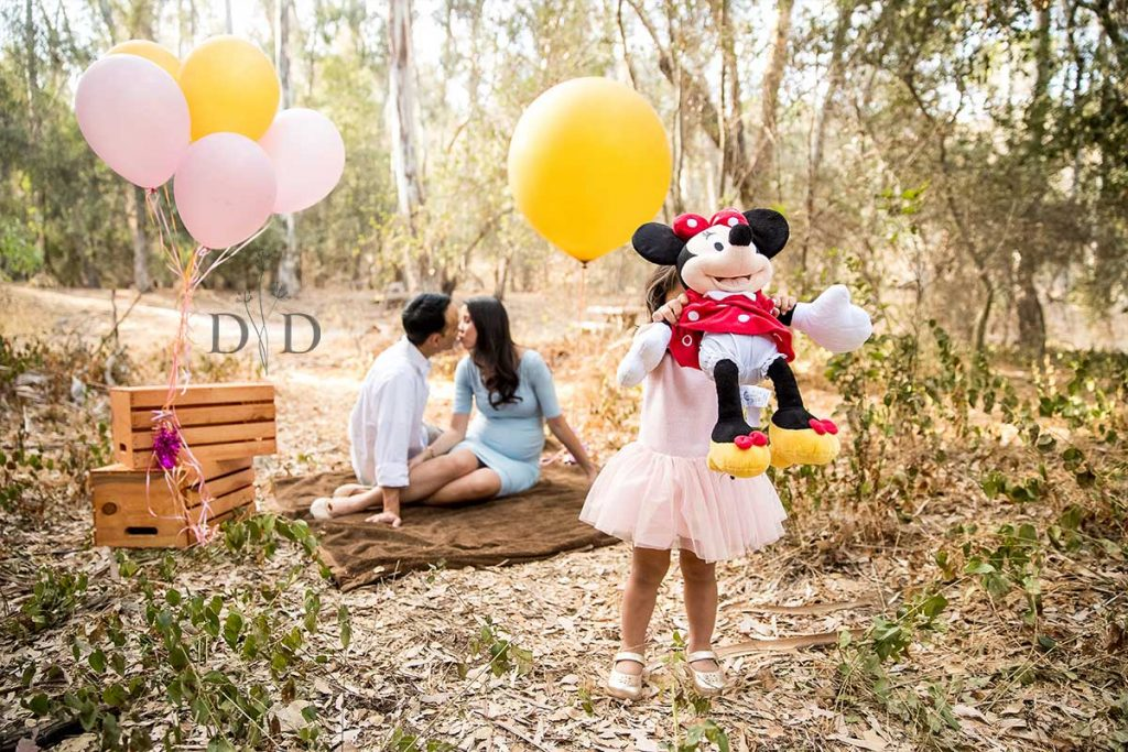 Family Photography with Daughter and Balloons