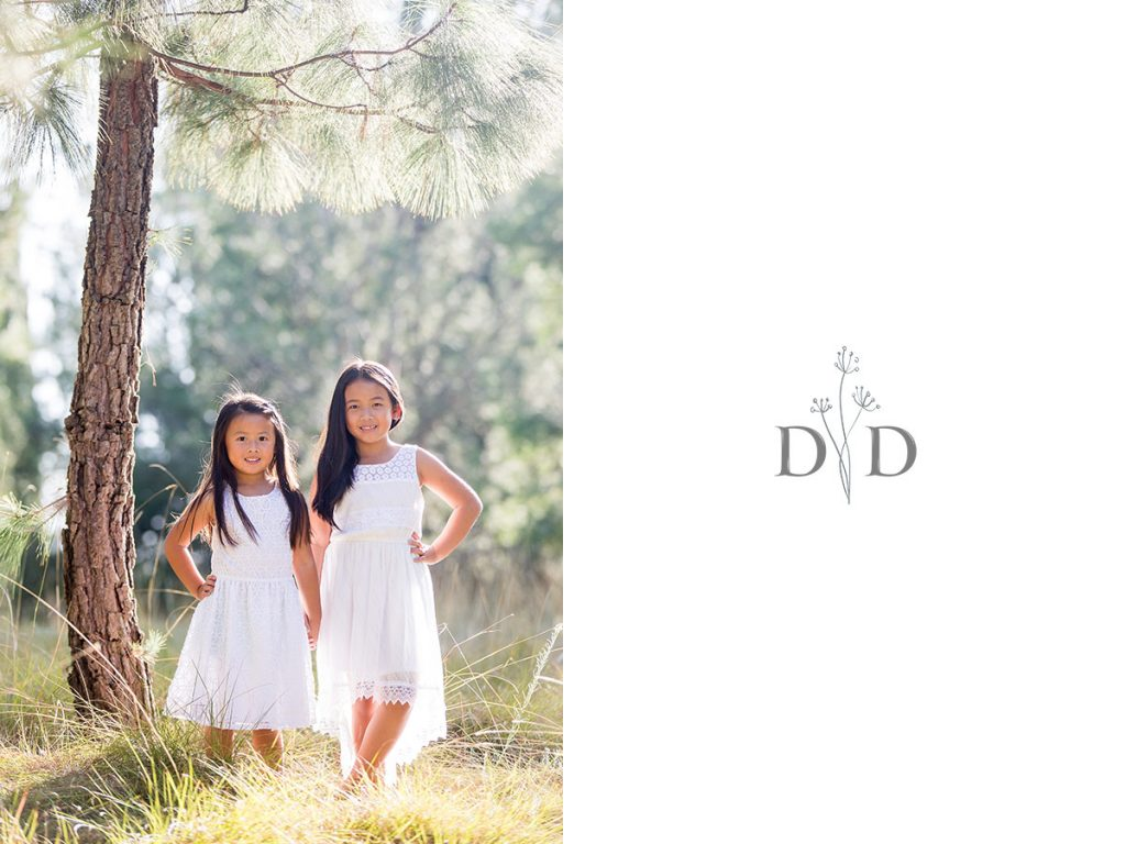 Two Daughters in White Dresses Family Photos