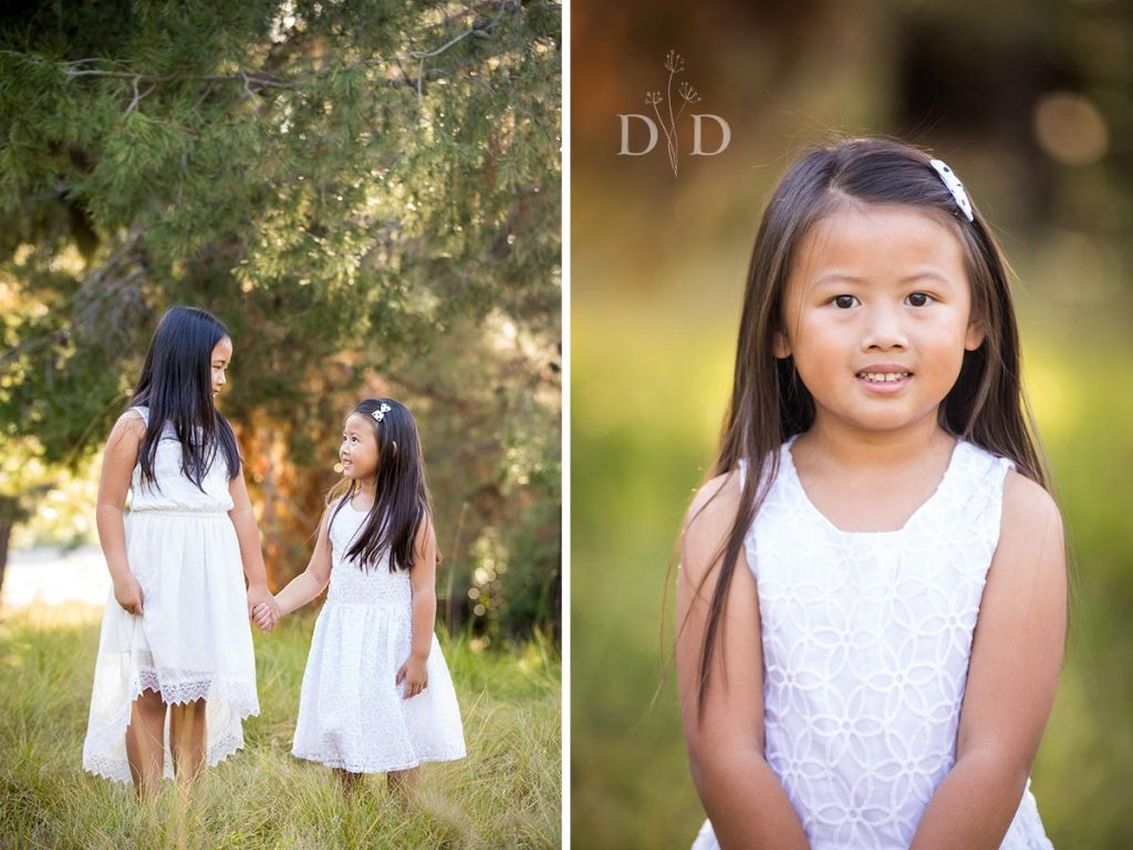Two Sisters in White Dresses Family Photos