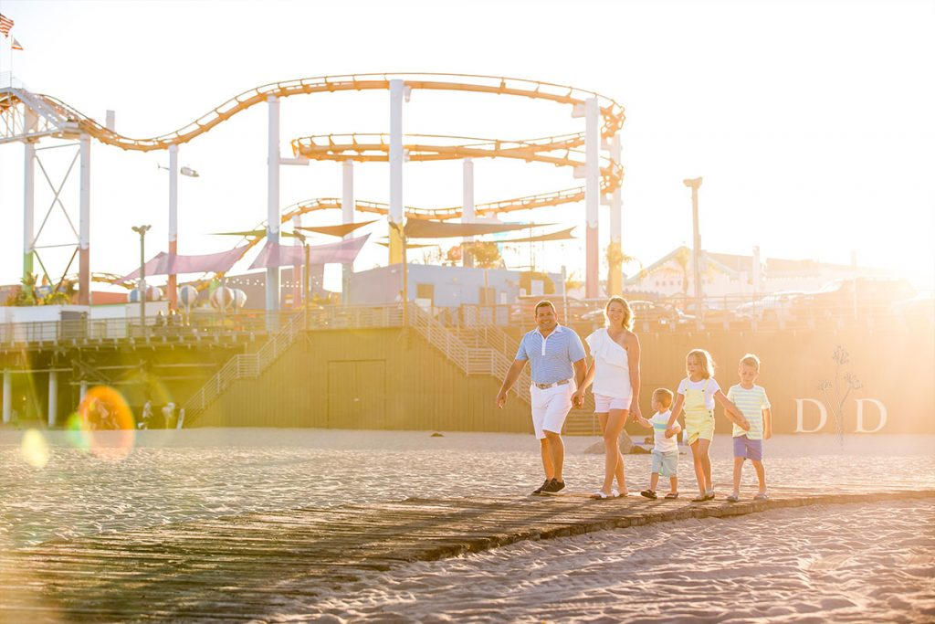 Family Photography Santa Monica Pier