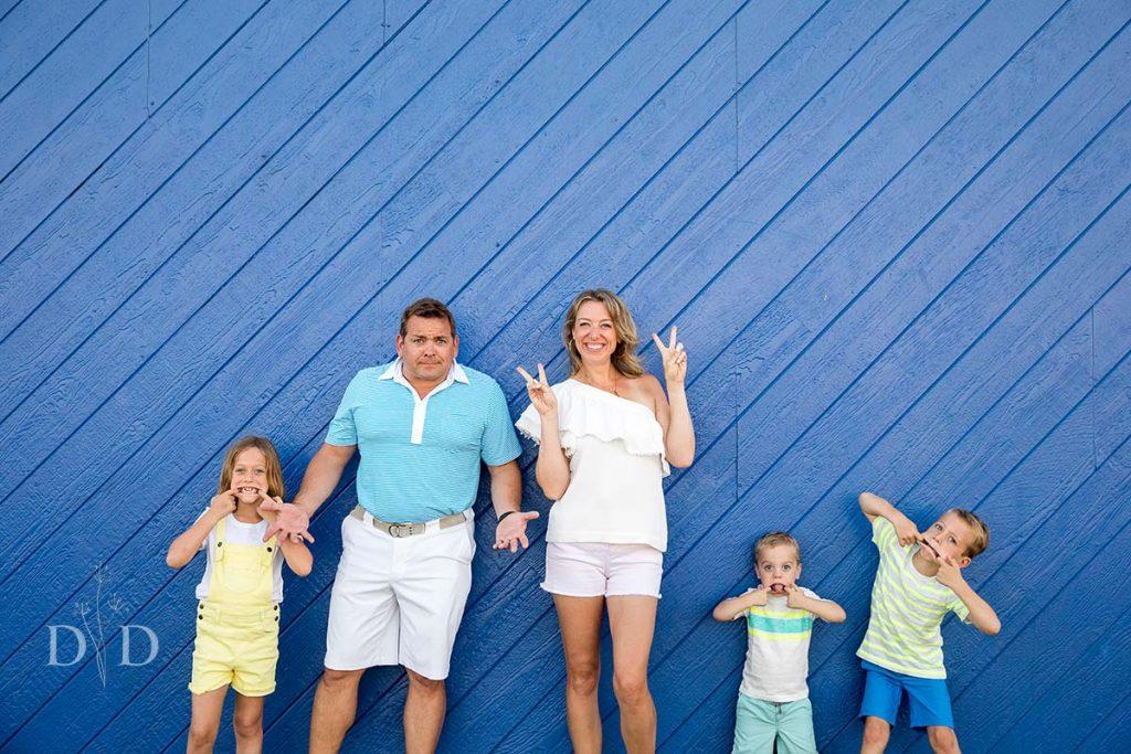 Funny Santa Monica Family Photography