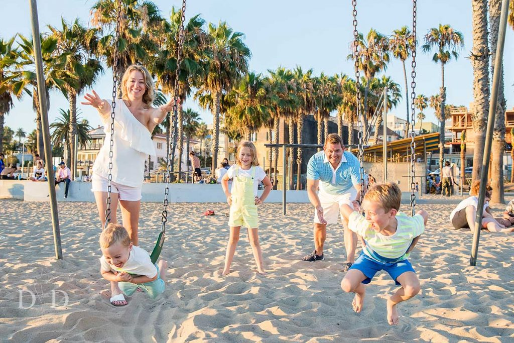 Santa Monica Family Photography Swings
