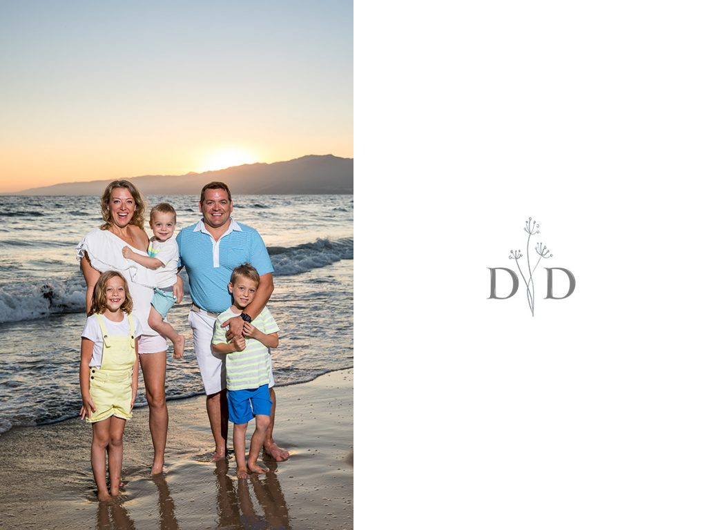 Santa Monica Beach Family Photography Sunset