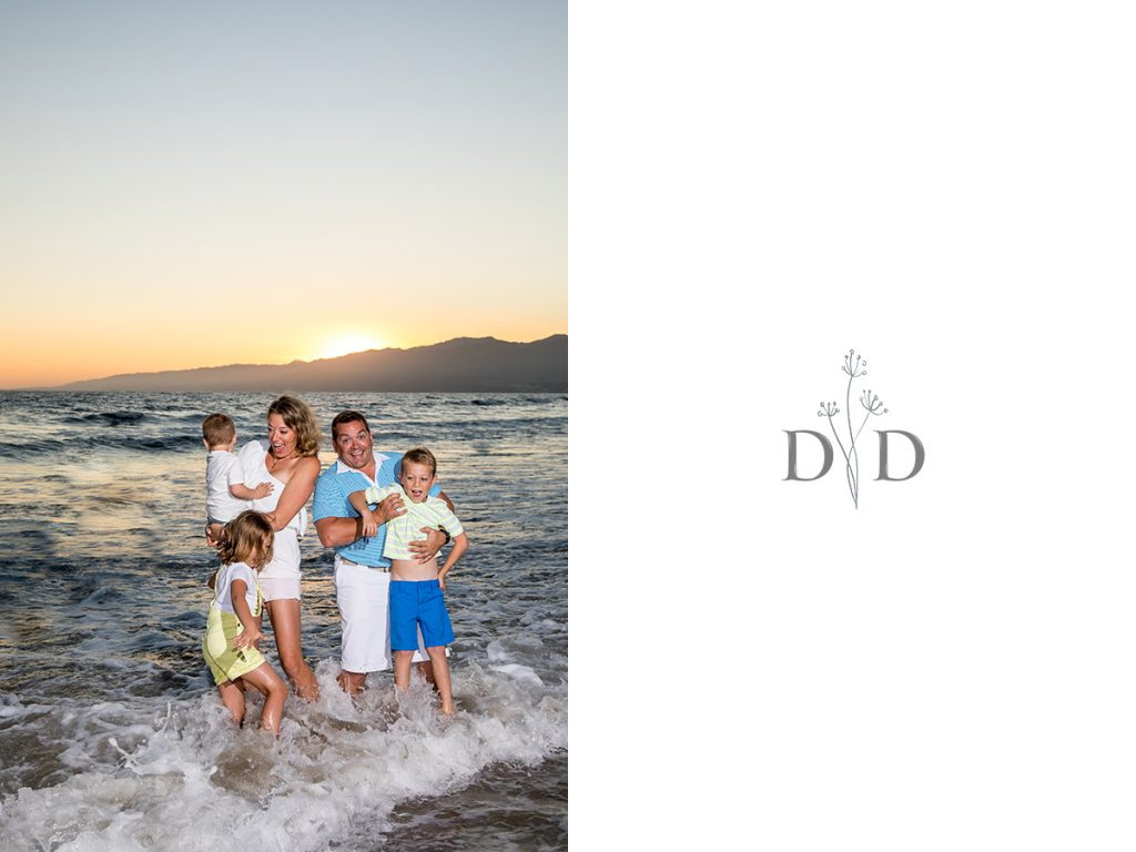 Santa Monica Beach Family Photography Wave