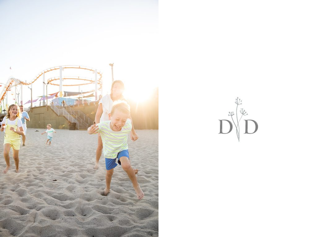 Family Photography Santa Monica Beach and Pier