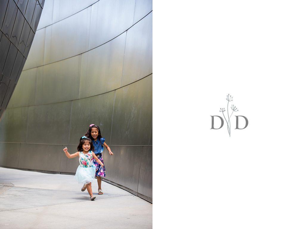 Walt Disney Concert Hall Portraits of Two Girls