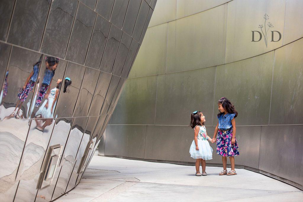 Walt Disney Concert Hall Portraits of Two Sisters