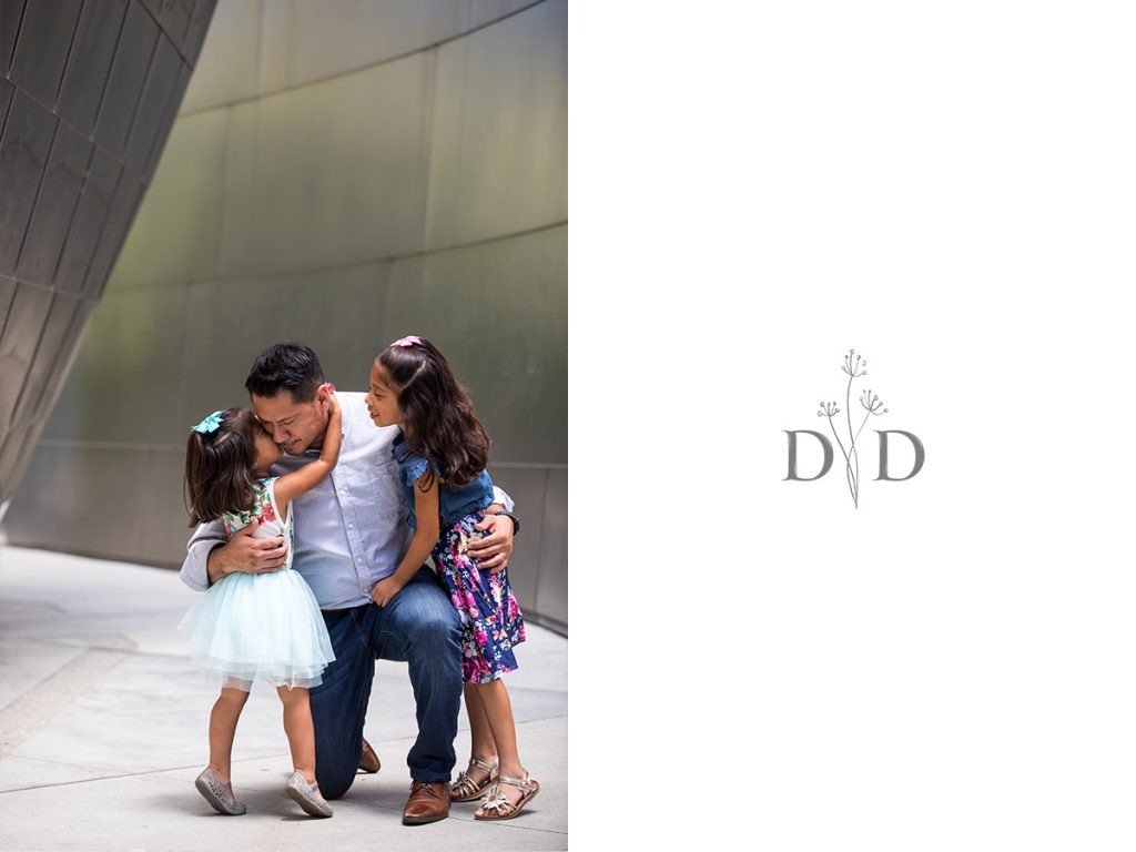 Daughters with Father