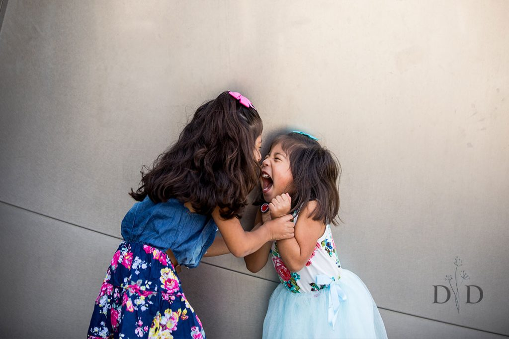Two Cute Daughters Portraits