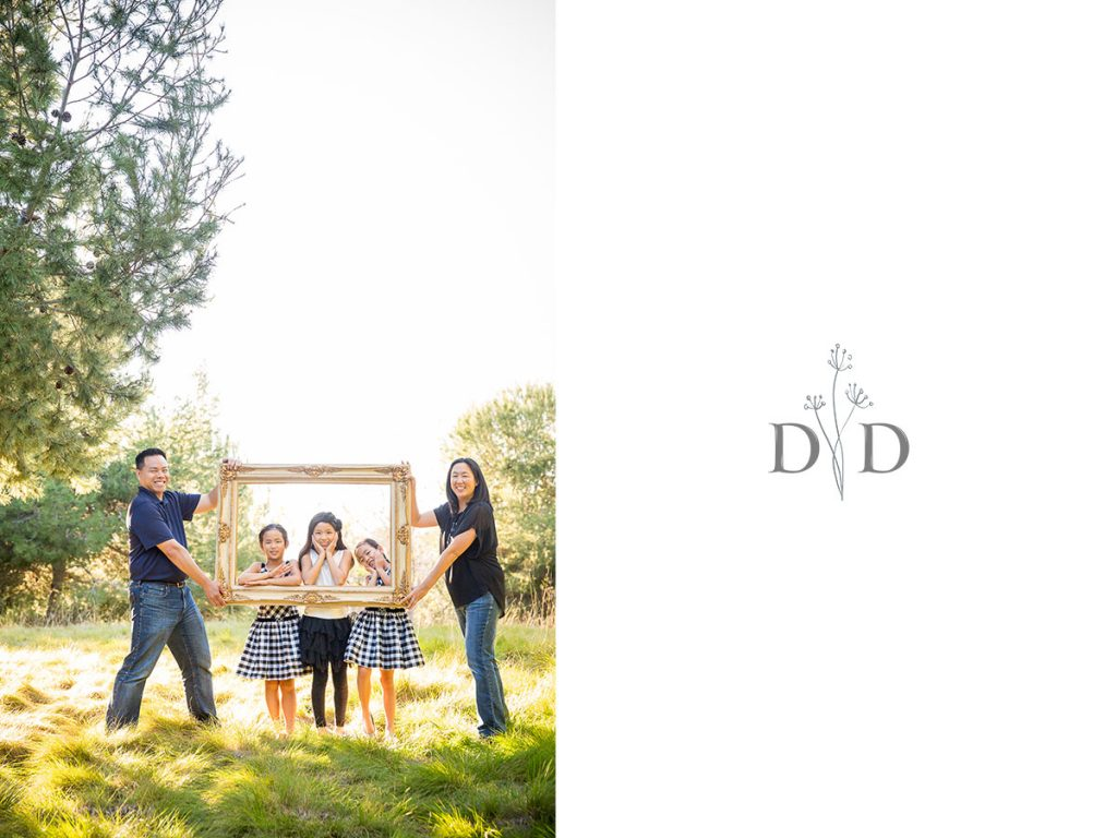 Family Photos with Picture Frame