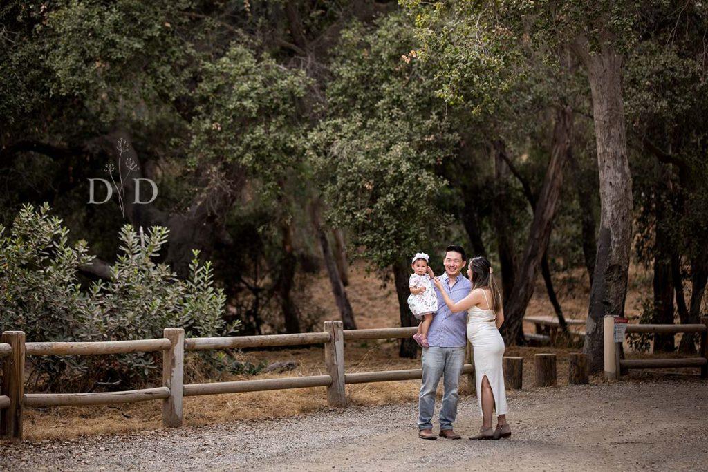 Walnut Creek Family Photo near a Wooden Fence