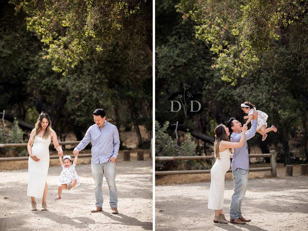 Family Photos Swinging Daughter