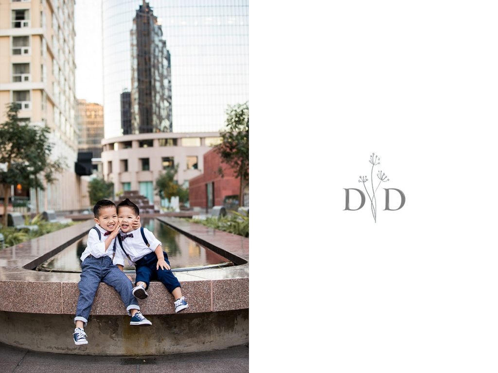 Two Cute Brothers Family Photos in Downtown Los Angeles