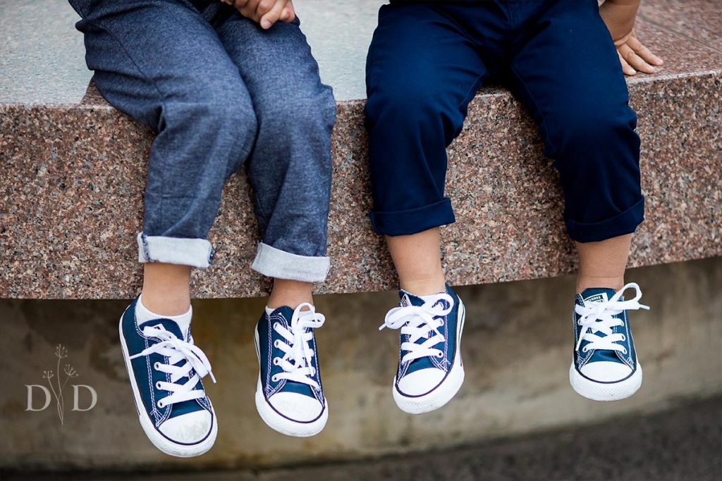 Two Cute Brothers Family Photos Shoes