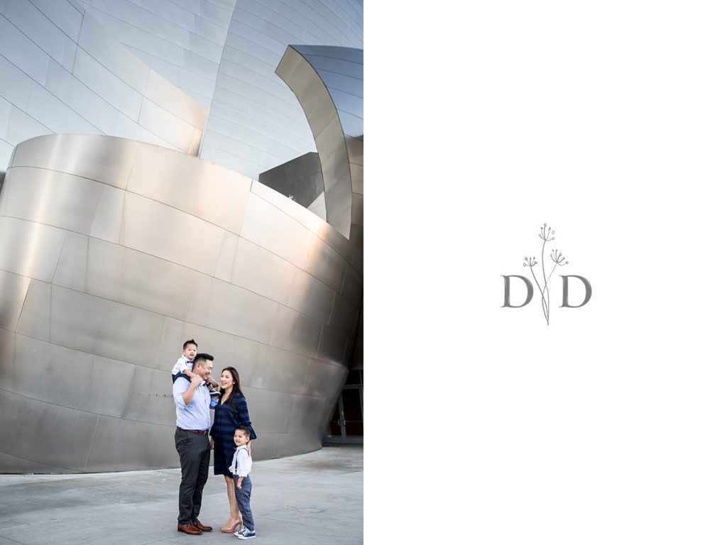 Walt Disney Concert Hall Family Photography