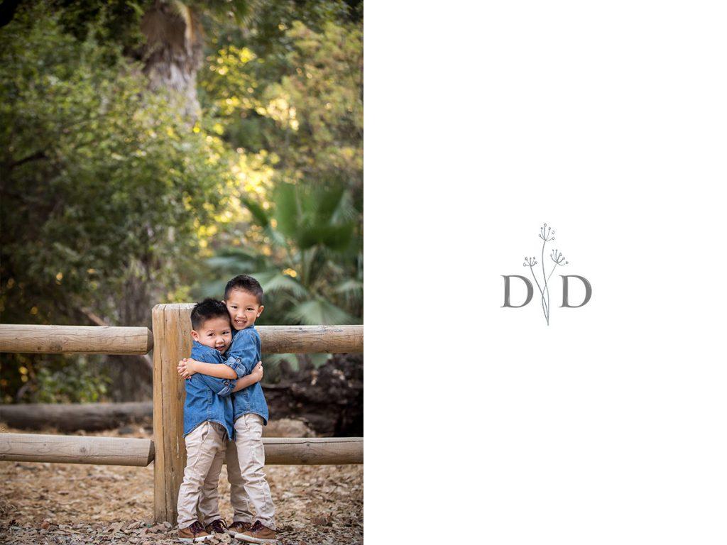 Walnut Creek Trail Family Portraits of Brothers