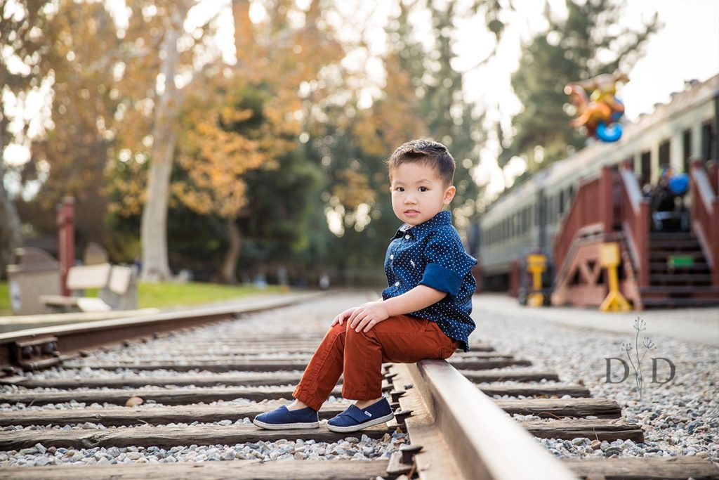 Travel Town Portrait on the Railroad Tracks