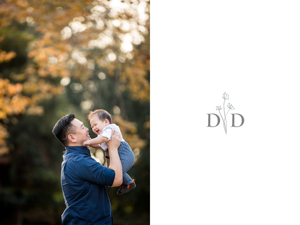 Dad with his Newborn Son Family Photography