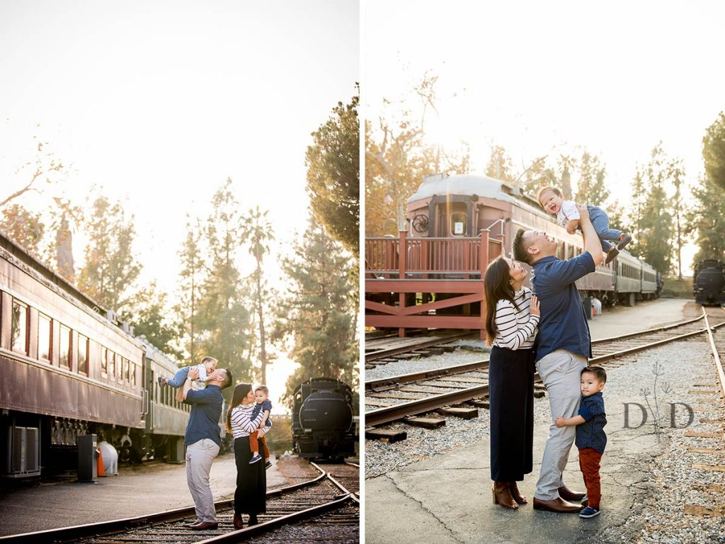 Family Photos with Trains